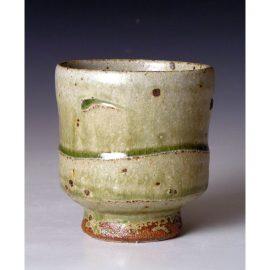 PR327  An ash glazed yunomi.
