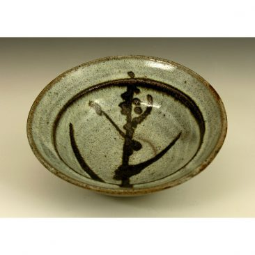 H35  A bowl with iron brushed pattern by Hamada Shoji.
