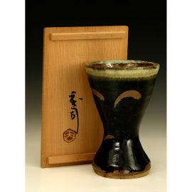 H12  A vase by Hamada Shoji.