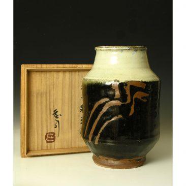 H170   An albarello Jar by Hamada Shoji.