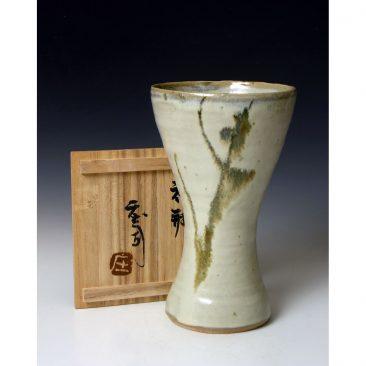 H183  A waisted vase by Hamada Shoji.