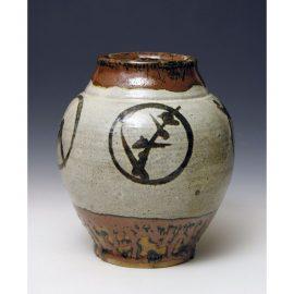 HJ89   A vase or Tsubo by Hamada Shoji.