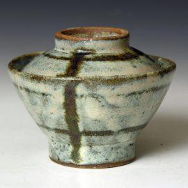 HJ82b A Covered Rice Bowl by Hamada Shoji