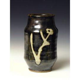 H168  An Albarello form vase by Shoji Hamada.