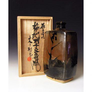 HJ78  Ichiro Kimura Press moulded bottle.
