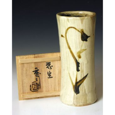HJ104   A flower vase byHamada Shoji.